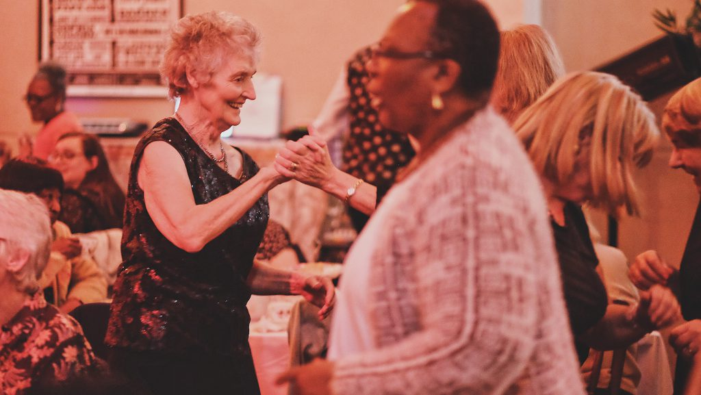 In between the acts, guests are encouraged to mingle and dance